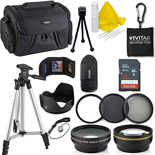 Professional 58MM Accessory Bundle Kit for Canon Rebel T6i T6 T6S T5 T5i T7 T7i T4i T3 T3i T2i T1i & DSLR Cameras, 15 Accessories for Canon