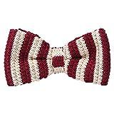 JUNGEN Pajarita de Punto para Hombre Pajarita de Rayas Corbata de Lazo con Color de Costura Pajarita...