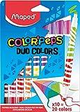 Caneta Hidrográfica Color Peps Duo Color Estojo 10 Cores, Maped 26, Multicor
