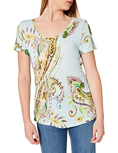 Desigual TS_Mandragora Camiseta, Azul, XXL para Mujer