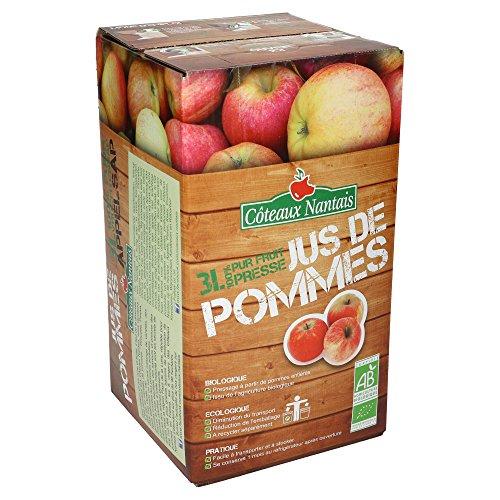 Côteaux - Nantais Jus de Pommes Bio - 100% Pur Fruit Pressé - 3 L