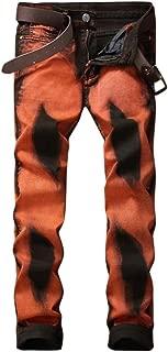 LUKEEXIN Printed Pants Men's Casual Trousers Tight Print Pants
