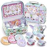 JOYIN Llama Juego de té Juego de Tetera de hojalata para Fiestas de té y Juegos de Cocina para niños, Juguete de té Juegos de imitación Regalo de Unicornio para niñas