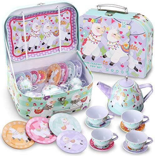 JOYIN Lama Set da tè per Feste di tè e Giochi Cucina dei Bambini