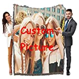 Maylian Custom Woven Blanket Personalized Customization Put Photo-Blanket Throw Woven from Cotton Gift Camp (52x72 inch,1)