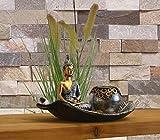 INtrenDU Orientalische Dekoschale mit Buddha Figur Dekosteinen und Teelichthalter zur Meditation - 2