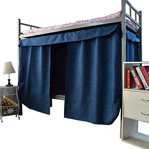 AILY Students Dormitory Bunk Bed Curtains Mosquito Protection Net Dustproof Blackout Cloth Bed Canopy Single Bed Tent Curtain Washable Removeable Shading Nets,Blue,1.2x2m(2packs)