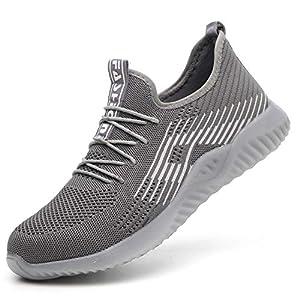 51NoOGqp2ML. SS300  - Zapatos de Seguridad para Hombre Transpirable Ligeras con Puntera de Acero Zapatillas de Seguridad Trabajo, Calzado de Industrial y Deportiva