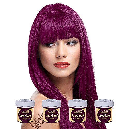 4 x La Riche Directions Semi-Perm Hair Colour Dark Tulip (ALL COLOURS Avail) 4x 88ml by La Riche