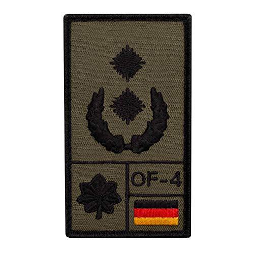 Café Viereck ® Oberstleutnant Bundeswehr Rank Patch mit Dienstgrad - Gestickt mit Klett – 9,8 cm x 5,6 cm