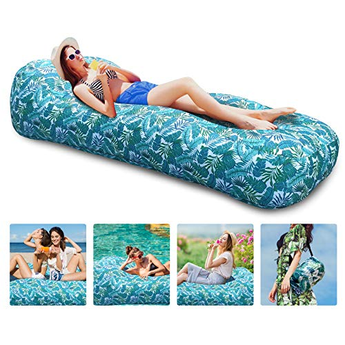 Myuilor Inflatable Lounger Air Sofa Portable Inflatable Couch Waterproof Anti-Air Leaking Inflatable Sofa Camping Accessories for Backyard, Lakeside, Beach, Party, Travel, Camping, Picnics