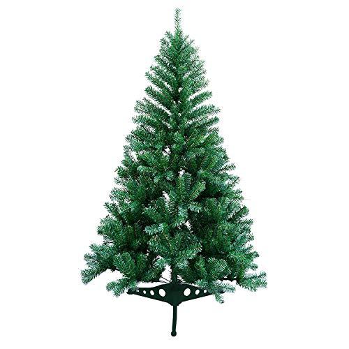 VINGO Künstlicher Weihnachtsbaum 120cm ca. 200 Grün Tannenbaum Weihnachtsdeko schwer entflammbar,inkl. Plastikständer für den Weihnachtsdekoration
