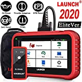 LAUNCH OBD2 Scanner CRP129E Code Reader for Engine/ABS/SRS/TCM Scan Tool,Oil lamp/EPB/SAS/TPMS/Throttle Body Reset,Auto VIN,Diagnostic Report,Free Update + TPMS Tool EL-50448,-2020 Elite Ver.