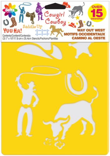 Stencil Mania stencil 7 'X 10' 3/Pkg-Way Out West