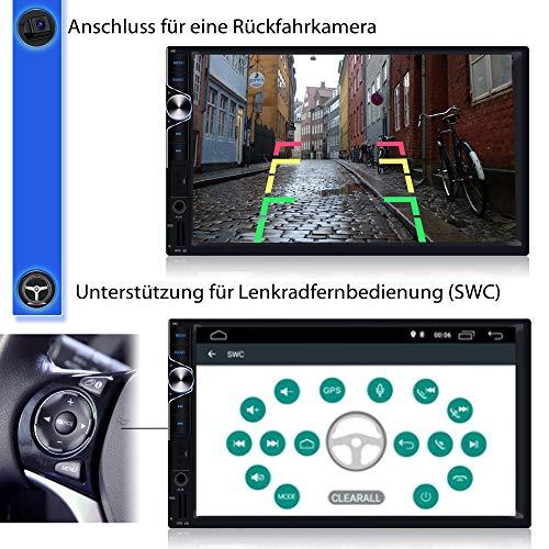 Tristan Auron BT2D7025A Android 10.0 Autoradio + DAB Plus Box OBD 2 Box - 7 Touchscreen Bildschirm I Bluetooth Freisprecheinrichtung GPS Navi USB SD 2 Din