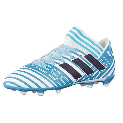 adidas Nemeziz Messi 17.3 FG J, Botas de fútbol Unisex niño, (Ftwbla/Tinley/Azuene), 30 EU