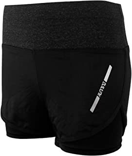 2 in 1 Running Shorts for Women High Waist Workout Shorts with Liner Double Layer Gym Shorts Quick Dry US Size 2-14