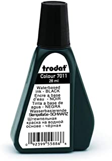 Trodat 7011 - Tinta para sellos, 28 ml, color negro