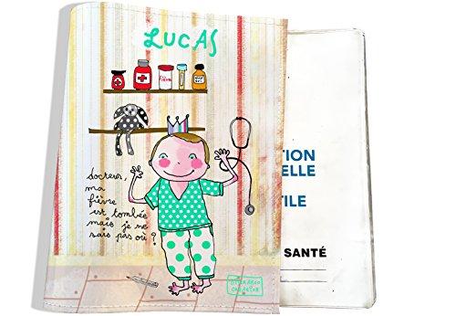 Protège carnet de santé bébé garçon Enfant Personnalisable Réf. C1009-2018