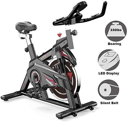 Cubierta de bicicleta de ejercicios, bicicletas de interior estacionaria de fitness, gimnasio Silencio Equipo cinta de correr con Big volante, asiento ajustable Altura de la caja, exhibición de LED, C