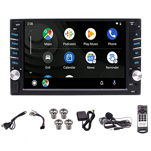Eincar Double Din GPS Bluetooth Autoradio mit Rückfahrkamera Android 10.0 Carplay Android Auto DSP 7-Zoll 2 Din Anto Stereo GPS-Navigation Radio WiFi 1GB RAM 16GB ROM Headunit FM/AM 4K DVR DAB