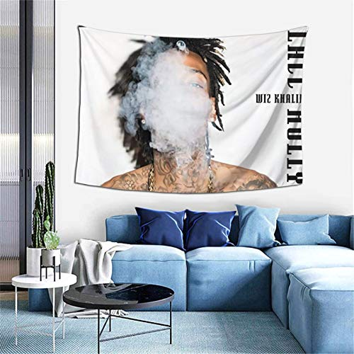 HUSHIQUD Wiz Khalifa Blacc Hollywood Home Fashion Wall Mounted Tapestry Decoration Bedroom Living Room 60 X 40 Inch