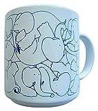 Taylor & Ng Animates Blue Daytime Elephants Mug