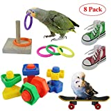 RYPET Bird Swing - Wooden Conure Toys Bird...