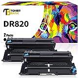 Toner Bank Compatible Drum Unit Replacement for Brother DR820 DR-820 DR 820 for Brother MFC-L5850DW HL-L6200DW HLL6200DW L6200DW MFC-L5900DW MFC-L5700DW HL-L5200DW L5200DWT Printer Drum Unit 2PK