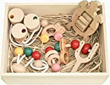 ●赤ちゃんのおもちゃ箱セット(Cタイプ)木のおもちゃ おしゃぶり 歯がため 3ヶ月 4ヶ月 5ヶ月 6ヶ月 1歳 2歳 ~出産祝いにお薦め♪ 木育