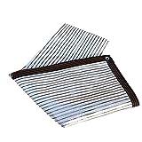 Bloqueador Solar Pantalla De Tela Impermeable Reflectante del Papel De Aluminio For Patio Gazebo Pergola Balcón Blanco De La Plata (Size : 1 * 1m)