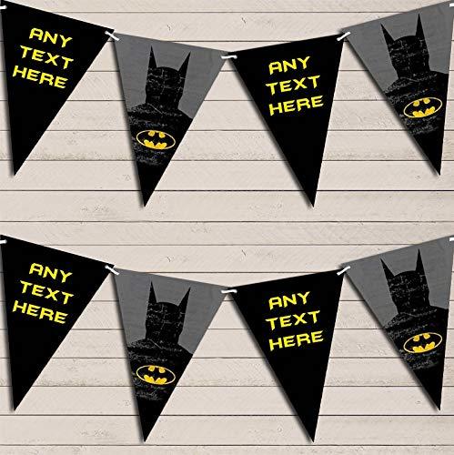 Superhero Batman kinderen verjaardag Bunting slinger partij Venue decoratie partij vlag Banner Small
