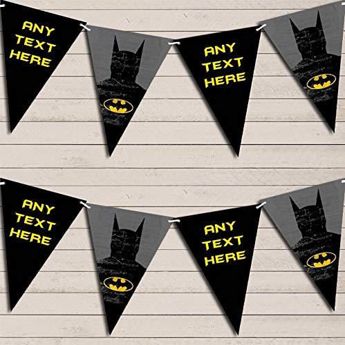 Superhero Batman Children's Birthday Bunting Garland Party Venue Decoration Party Flag Banner