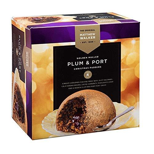 Matthew Walker Golden Mulled Plum & Port Christmas Pudding 400g x 1