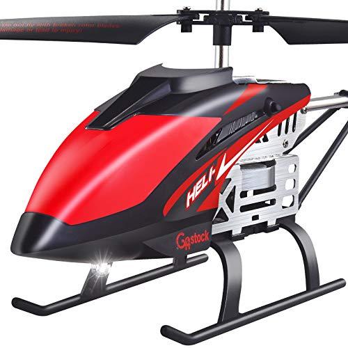 GoStock Hubschrauber ferngesteuert Helikopter RC Fernbedienung Helikopter mit Gyro Schwebefunktion, Start/Landung mit einer Taste, LED Leucht für Indoor Flugzeug 2.4Ghz Mini RC Hubschrauber für Kinder