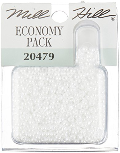 Mill Hill Glass Seed Beads Economy Pack, White