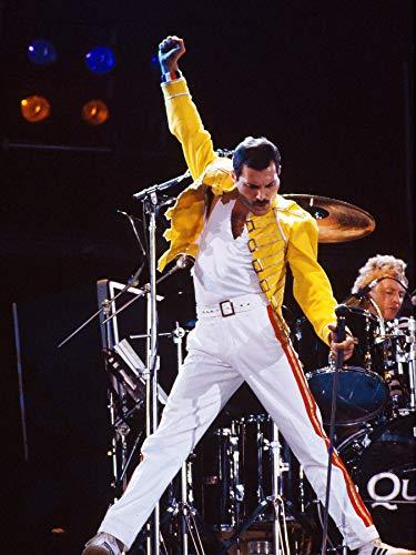 Freddie Mercury 1986 Queen Legendery Singer Star Póster tamaño estándar 45,7 x 61 cm