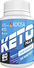 Adiosa Keto Carb Blocker Weight Loss Pills - Supplements to Burn Fat Fast - 60 Pills - Keto Meal Replacement - Premium Keto Supplement - Keto Appetite Suppressant for Women & Men