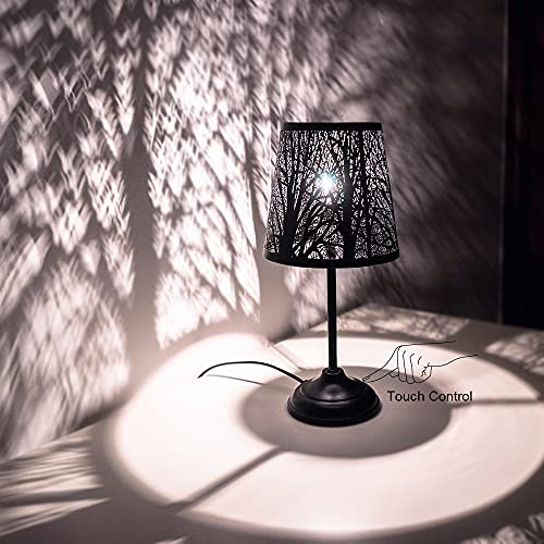 Touch control mini table lamp, 3 way dimmable bedside lamp, decorative...