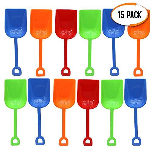 Bramble 15 Pack Sandspielzeug Schaufel, 23cm - Perfekt für Kinder, Kleinkinder, Strandspielzeug, Park, Garten, Sandkasten, Sandboxen.