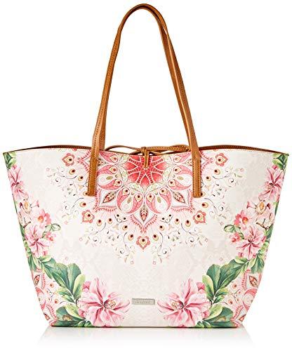 Desigual PU Shopping Bag, Handbag Femme, Rouge, Taille unique
