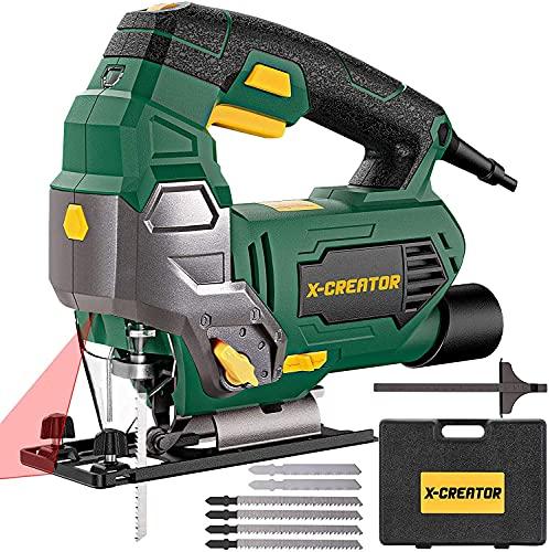 Seghetto Alternativo 800W con Laser,X-CREATOR 3000RPM Seghetto Alternativo per Legno...