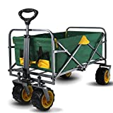 LRFSD Folding Utility Luggage Cart, Portable Hand Truck, with 4 Wheels, Removable Fabric, for Outdoor Camping, Travel, Supermarket Shopping, Office, Pet