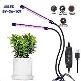 LEDは屋内植物のためのライトを育てます、自動オン/オフタイマーのフルスペクトルの植物ライト3/6 / 12Hタイミング家庭菜園の成長のための5つの調光可能なレベル