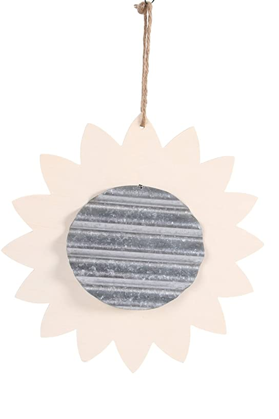 Darice Unfinished Wood Sunflower with Corrugated Metal