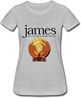 Refined James Girl at The End of The World Tour 2016 Women's Cotton Short Sleeve T-Shirt