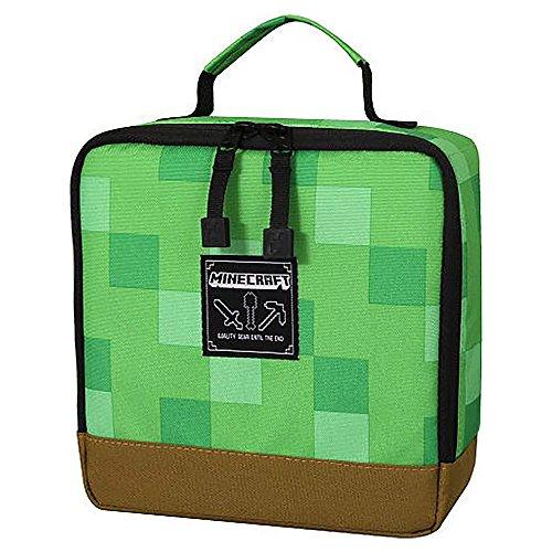 JINX Minecraft Lunchbox Tasche Pixel Block 23x23x10cm grün braun