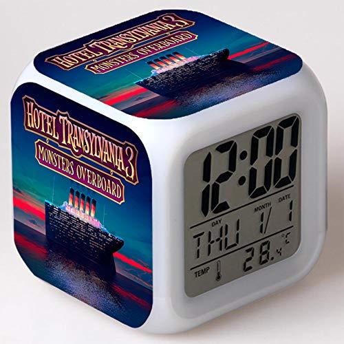 Wizard Hostel Alarm Clocks Kids LED Clock Cartoon Night Light Flash 7 Color Changing Digital Clock Electronic Desk Clock,Style 12, Birthday