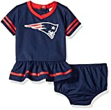 NFL New England Patriots Team Jersey Dress and Diaper Cover, Blue/red New England Patriots, 0-3 Months (138872160PTS03M-417)