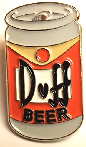 Mainly Metal Metall Emaille Pin Badge Duff Bier kann Homer Bart (Simpsons TV Cartoon)